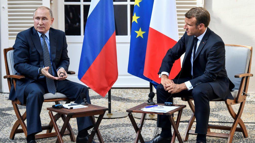 Le président russe Vladimir Poutine et le président français Emmanuel Macron au fort de Brégançon, le 19 août 2019. Gerard Julien, Pool via Reuters