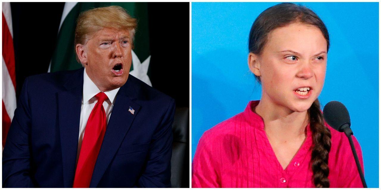 Donald Trump se moque de Greta Thunberg, militante pour le climat chez les adolescentes