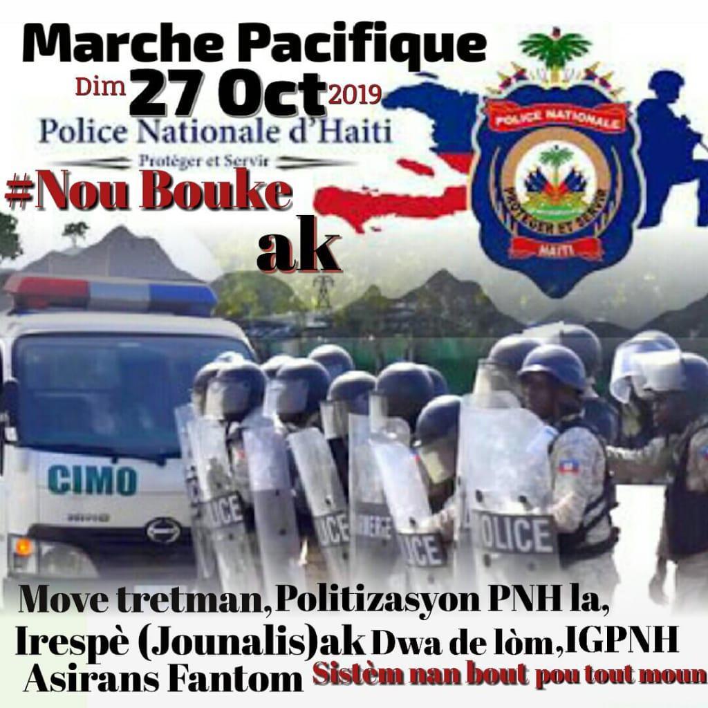 Les entités de la PNH organisent une marche ce dimanche !