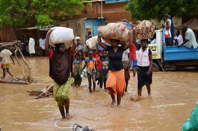 Au Niger, En raison des inondations, plus de 23.000 habitants ont laissé le pays