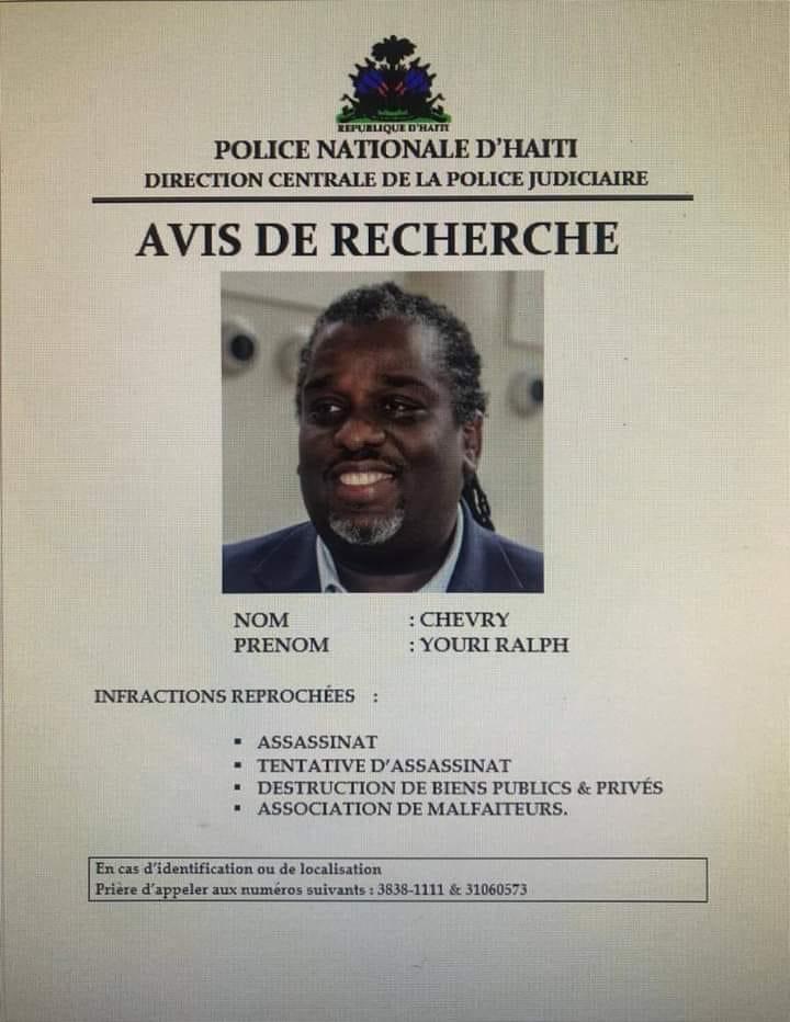 Ayiti-Aktyalite: Lapolis nasyonal ap chache Youri Ralph Chéry tankou epeng